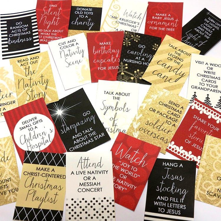 FREE Printables to Make Your Own Christ-Centered Christmas Countdown