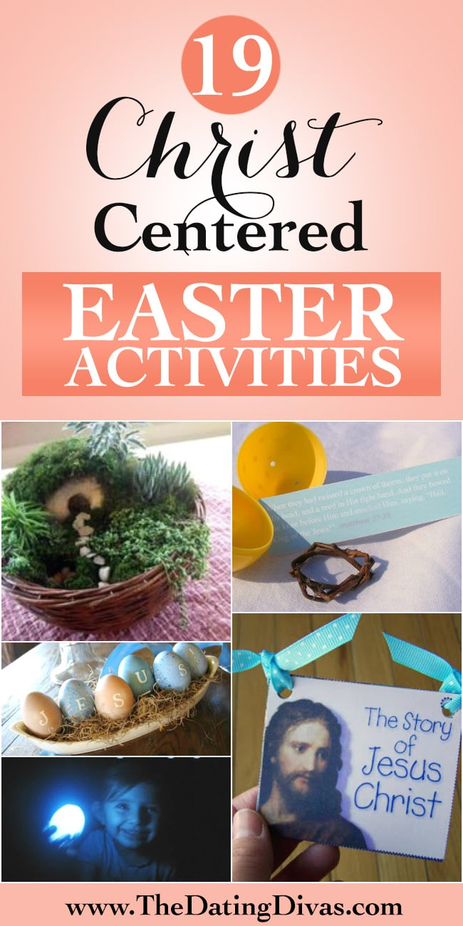 Christ Centered Easter Activities - fun ideas to help keep Easter focused on Jesus!