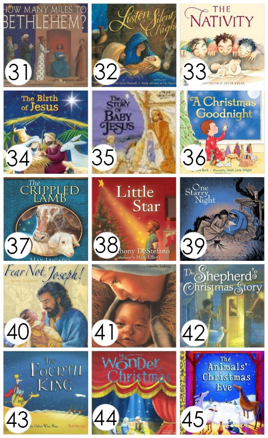 A whole collection of picture books to help keep Christ the center of Christmas. Read one book every night until Christmas!