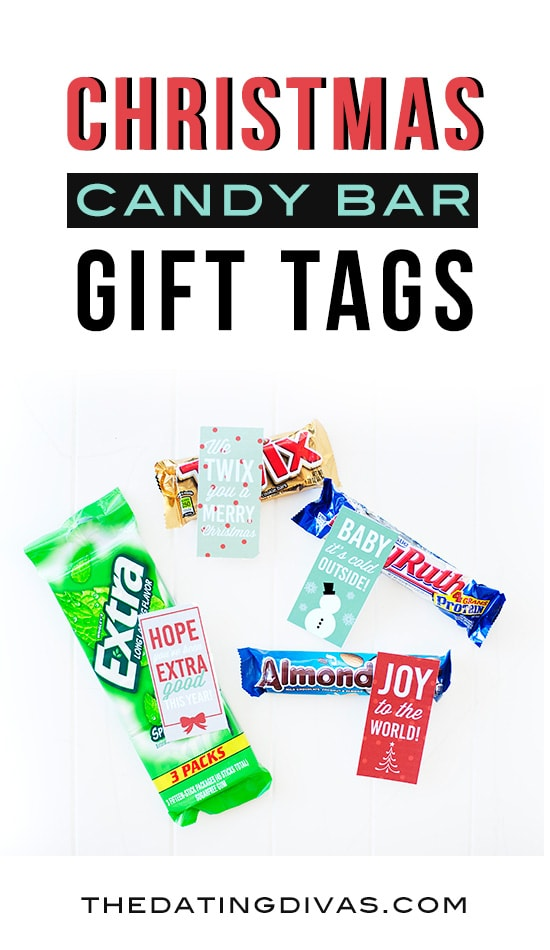 Christmas Candy Bar Gift Tags! Free printables from The Dating Divas