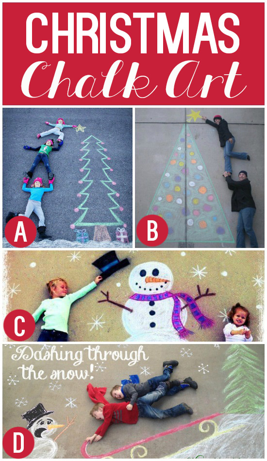 Christmas chalk art get creative and make your own christmas y