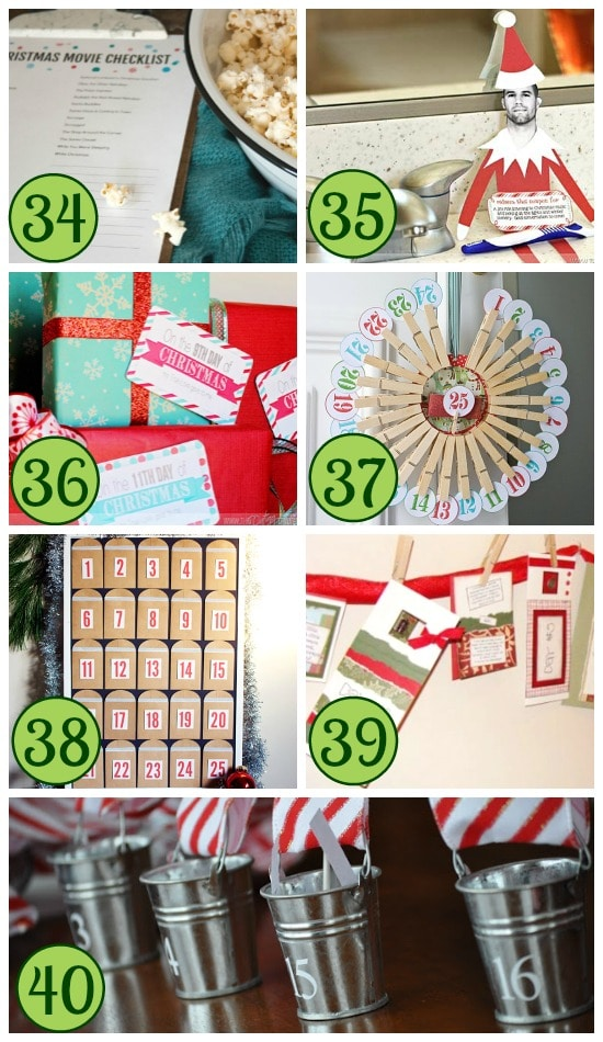 Christmas Countdown Traditions Collage #2