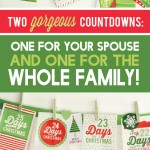 Christmas Countdowns Printable Packs