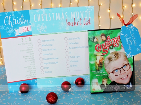 Printable Christmas Playlist and Moive Bucket List