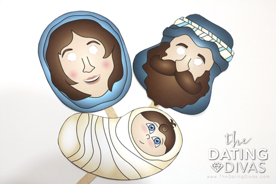 Mary, Joseph, and Baby Jesus Nativity Masks