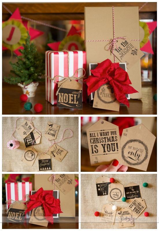 Christmas Gift Tags Collage