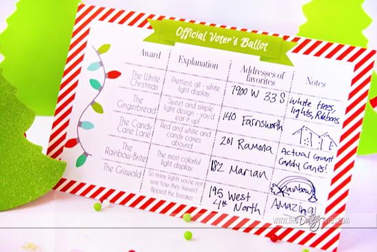 Christmas Light Date Night Ballot Light Award Categories
