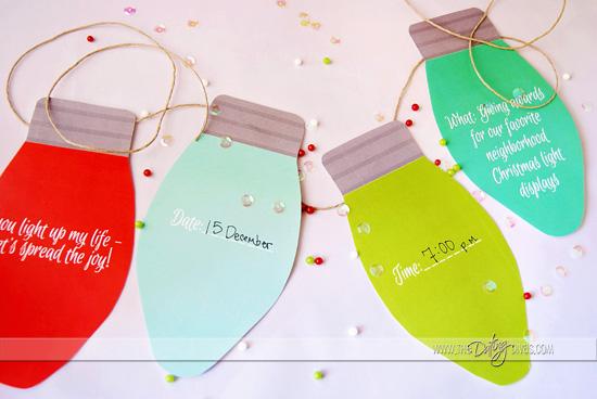 Christmas Light Date Night Free Printable Christmas Bulb Invite