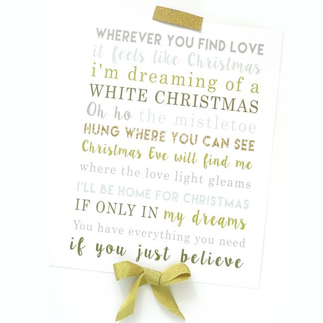 Christmas Song The Gift Lyrics: Christmas Love Lyrics : The Dating Divas