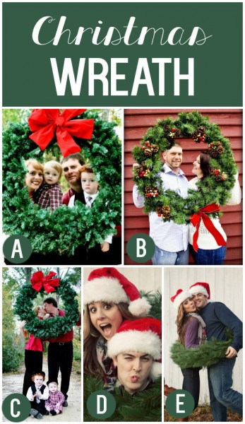 Christmas Wreath as Holiday Photo Prop