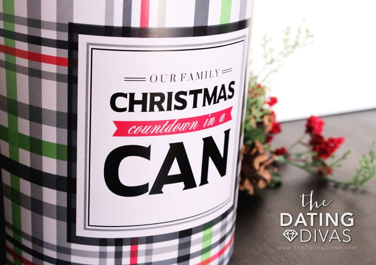 Christmas Day Countdown in a Can