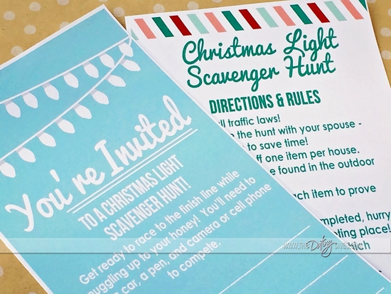 Chritstmas Decorations Scavenger Hunt Ideas Printables Invitation