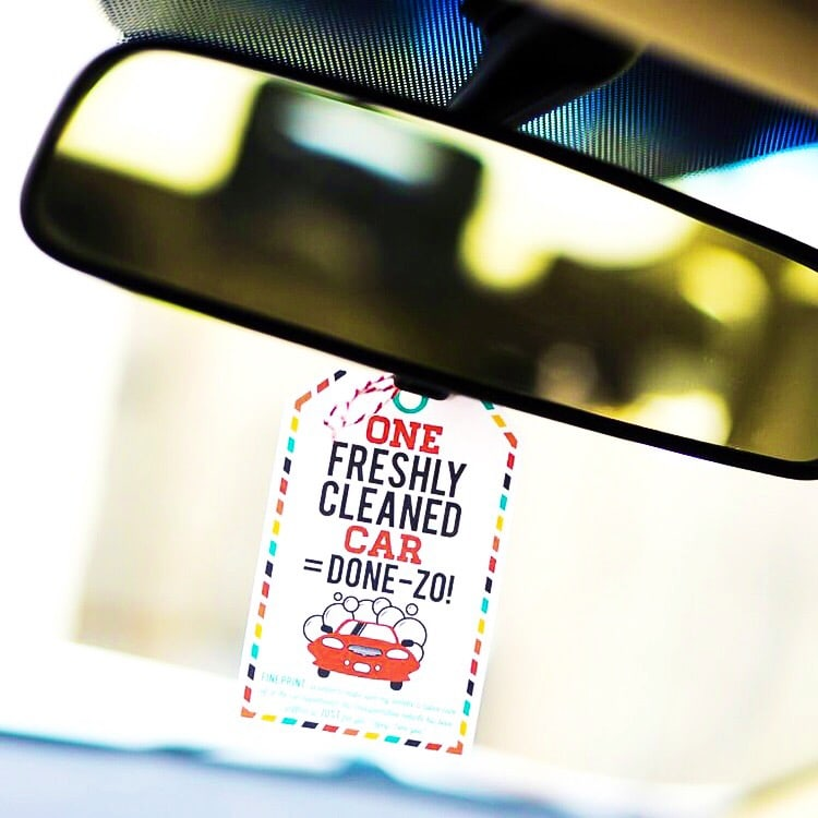 Surprise your spouse with a clean car!