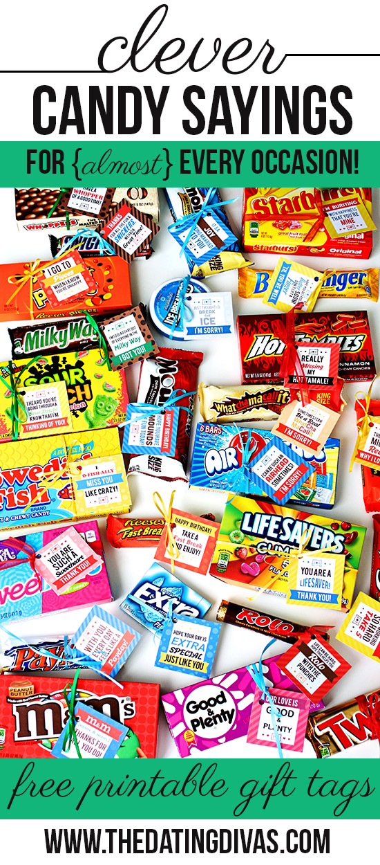 Clever candy sayings with candy quotes, love sayings and more!