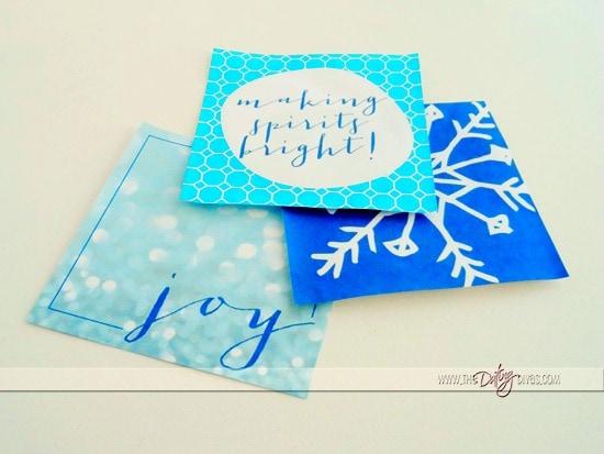 Close Up Christmas Cards