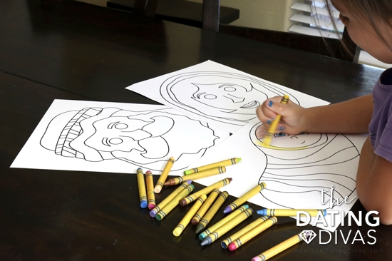 Color Your Own Printable Nativity Masks