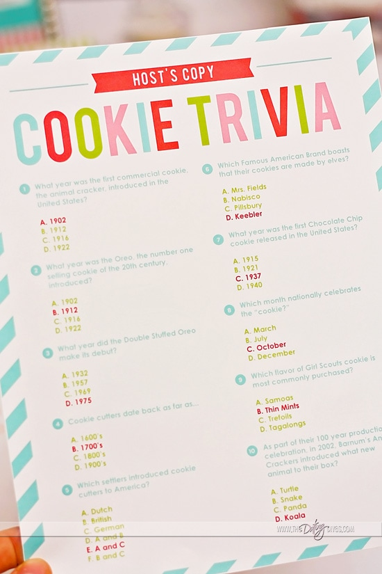 Christmas Cookie Trivia Questions