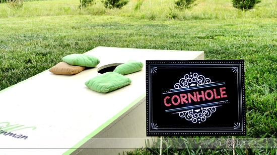 Cornhole Yard Game Sign