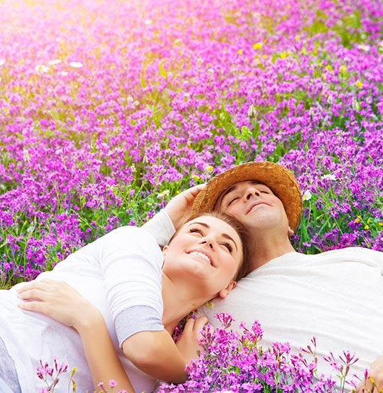 Couple in Lavender Field