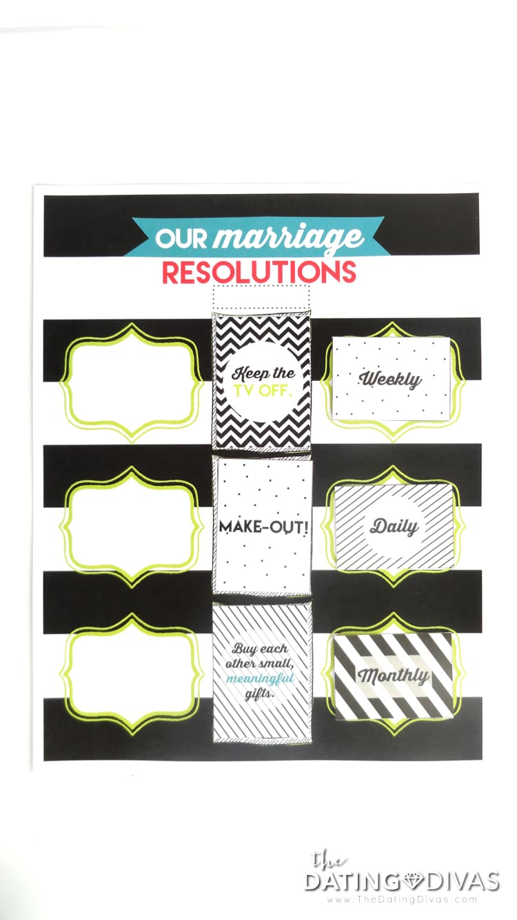 Creating Marriage Resolutions