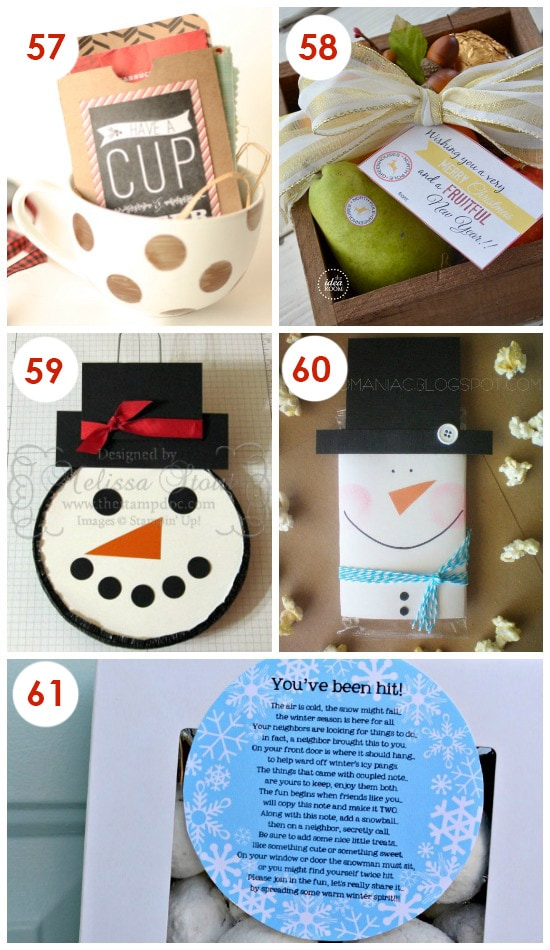 101 quick and easy christmas neighbor gifts for Creative christmas ideas