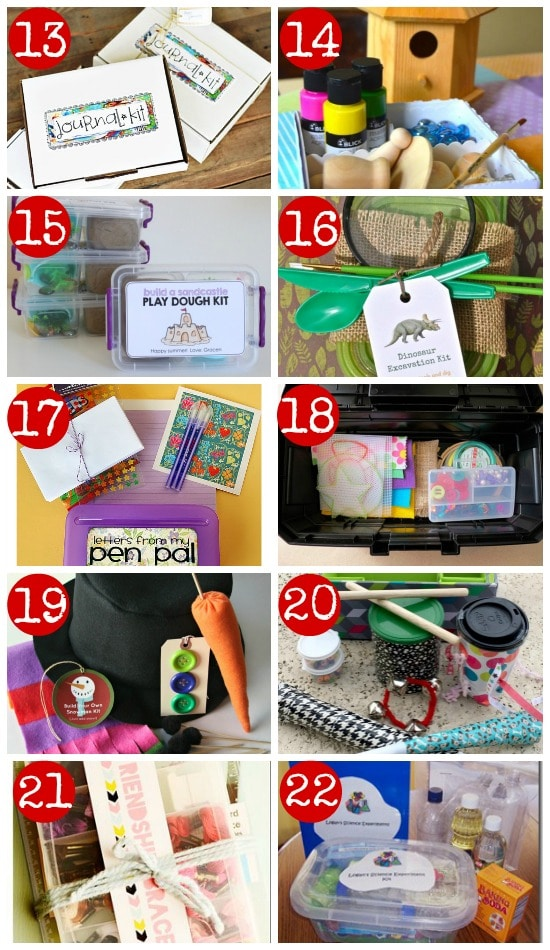 50 diy gift kits for kids for Homemade craft gift ideas