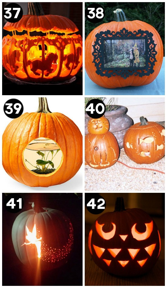 Halloween pumpkin carving ideas beautiful at night pictures Unique pumpkin decorating ideas