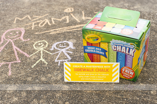 Creativity in a Box Kids Sidewalk Chalk Activities