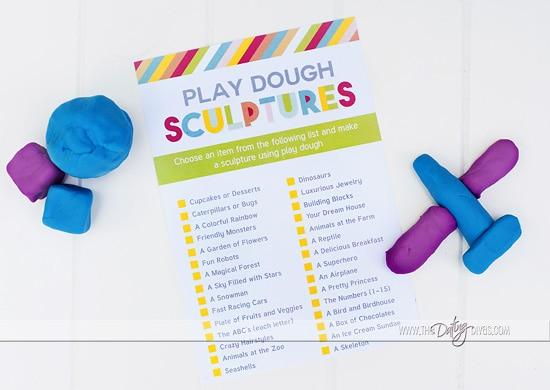 Creativity in a Box Kids Playdough Activities