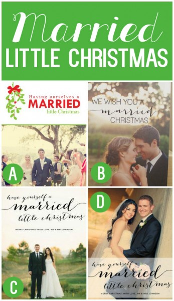 Cute Christmas Cards for Newlyweds