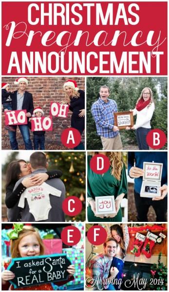 Cute Christmas Pregnancy Announcement Ideas