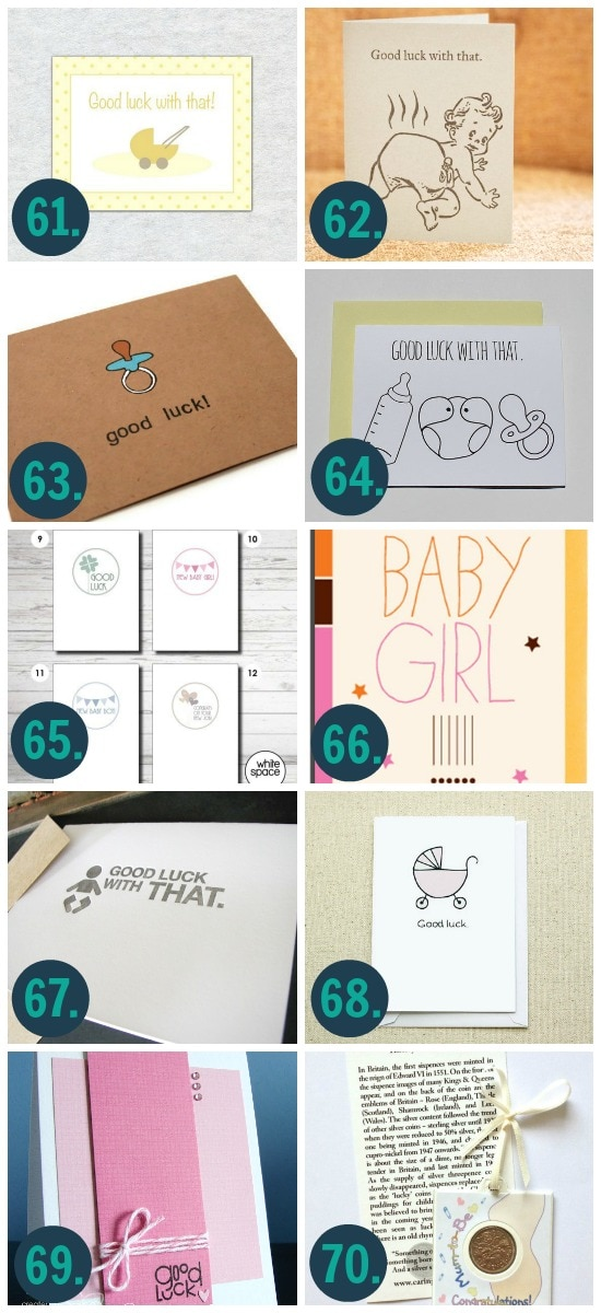 DIY Good Luck Card for Baby