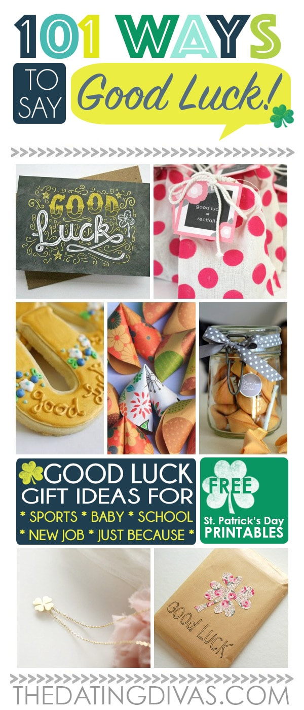 Cute Good Luck Chalkboard Card