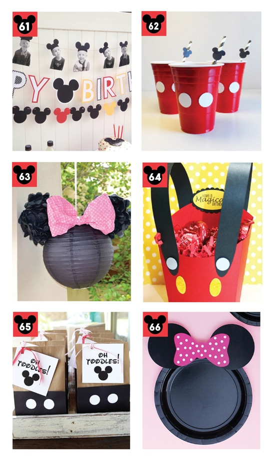 Cute Mickey and Minnie Disney Themed Party Ideas