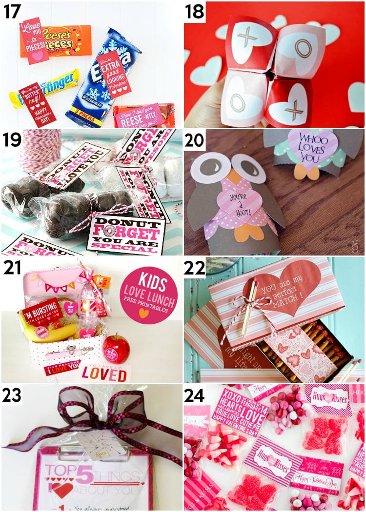 Last Minute Valentine Gifts and Printables