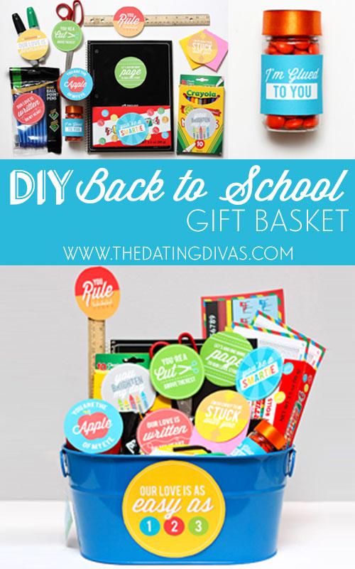 DIY Back to School Gift Basket