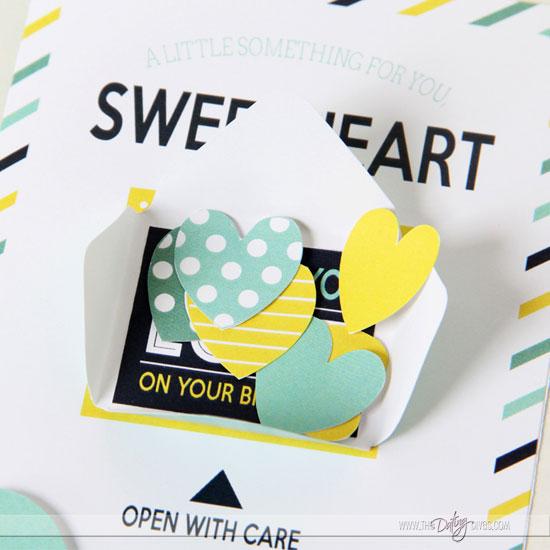 DIY Confetti Birthday Card Detail