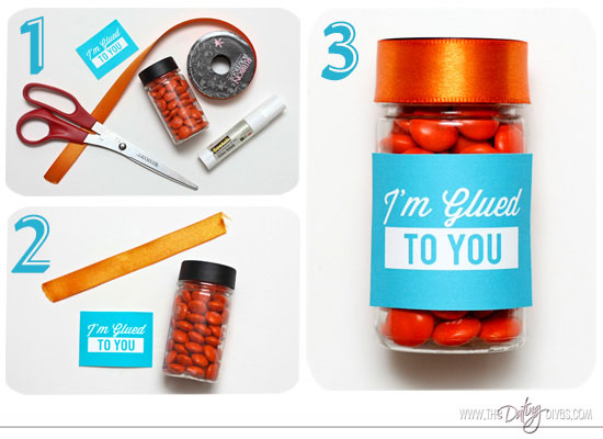 DIY Glue Stick Candy Jar