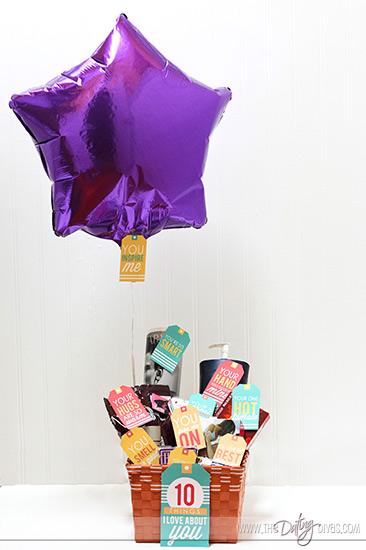 Husband Gift Basket with Printables
