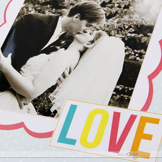 DIY Love Journal Photo Embellishment Close-up