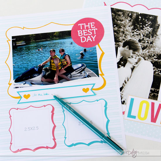 DIY Love Journal Photo Frames
