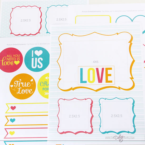 DIY Love Journal Photo Pages