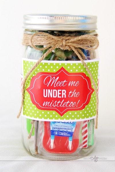 DIY Mistletoe Kit Christmas Gift with Printables