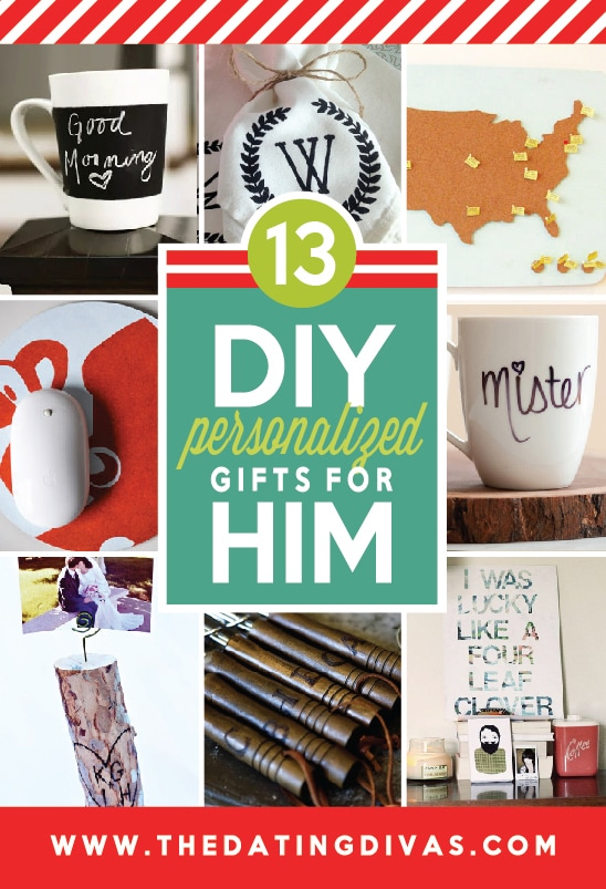 13 DIY Personalized Gifts for Him from The Dating Divas