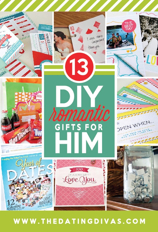 DIY Romantic Gifts for Him from The Dating Divas