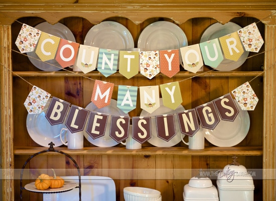 DIY Thanksgiving Countdown Banner - Web Size