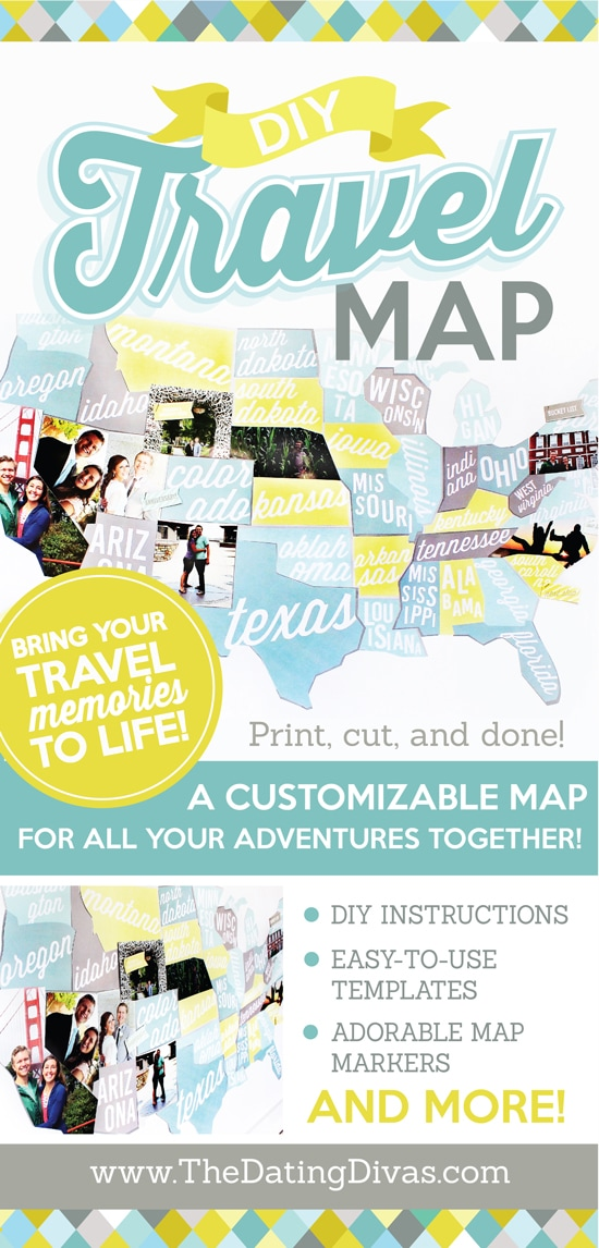 DIY Travel Map - Make your own travel map