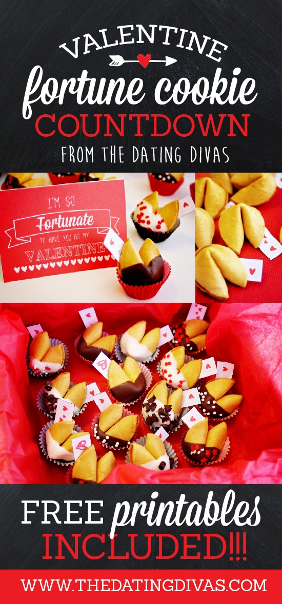 DIY Valentine Fortune Cookie Countdown- free printables too!