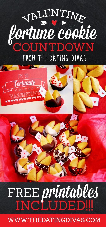 DIY Valentine Fortune Cookie Countdown- free printables too!