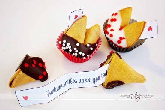 DIY Customized Valentine Fortune Cookies